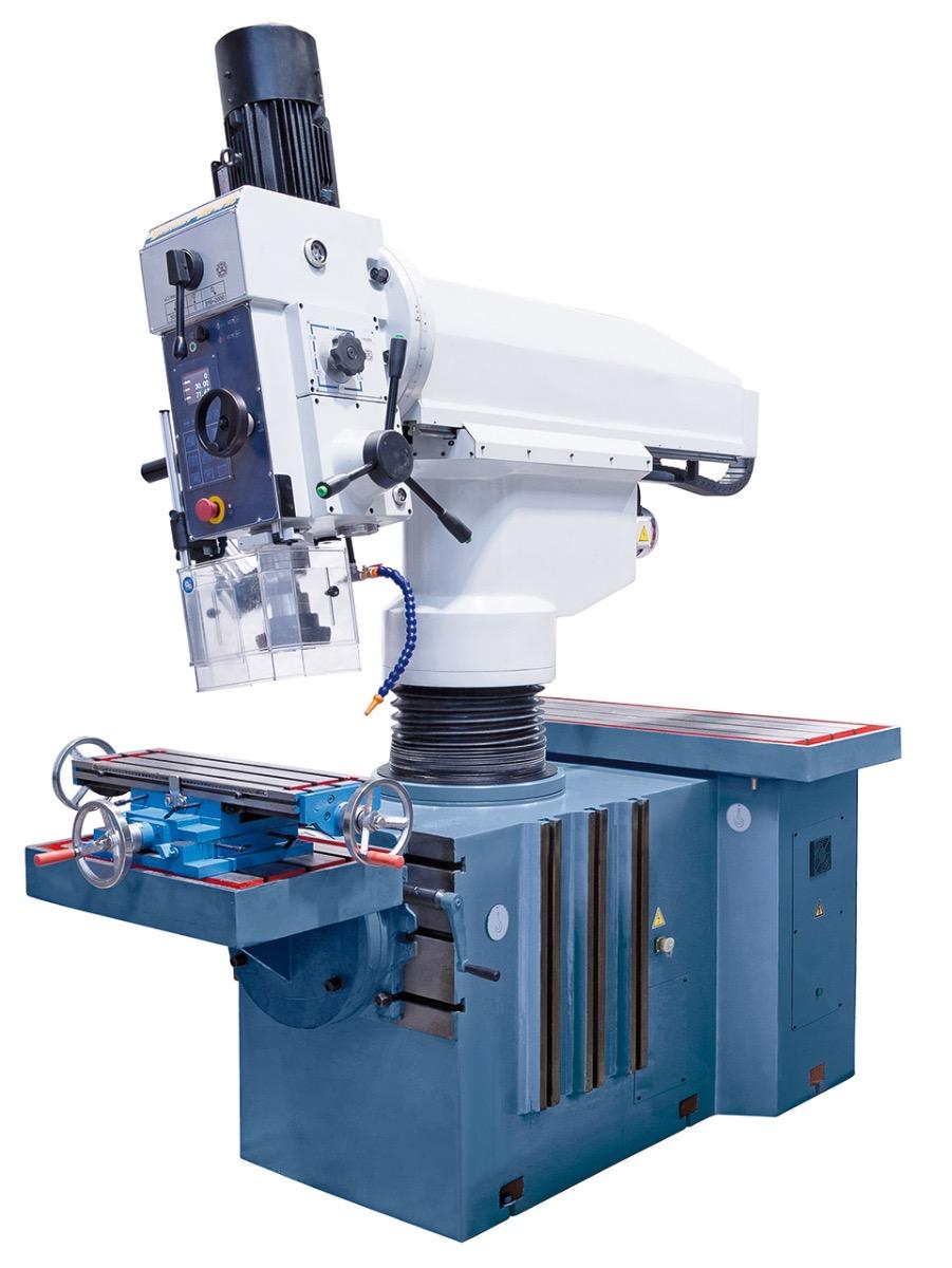 Erhöhte Effizienz durch den +/- 90° schwenkbaren Bohrkopf und einer Vielzahl von Aufspannmöglichkeiten. Außerdem können mit dieser Maschine Fräsarbeiten durchgeführt werden.