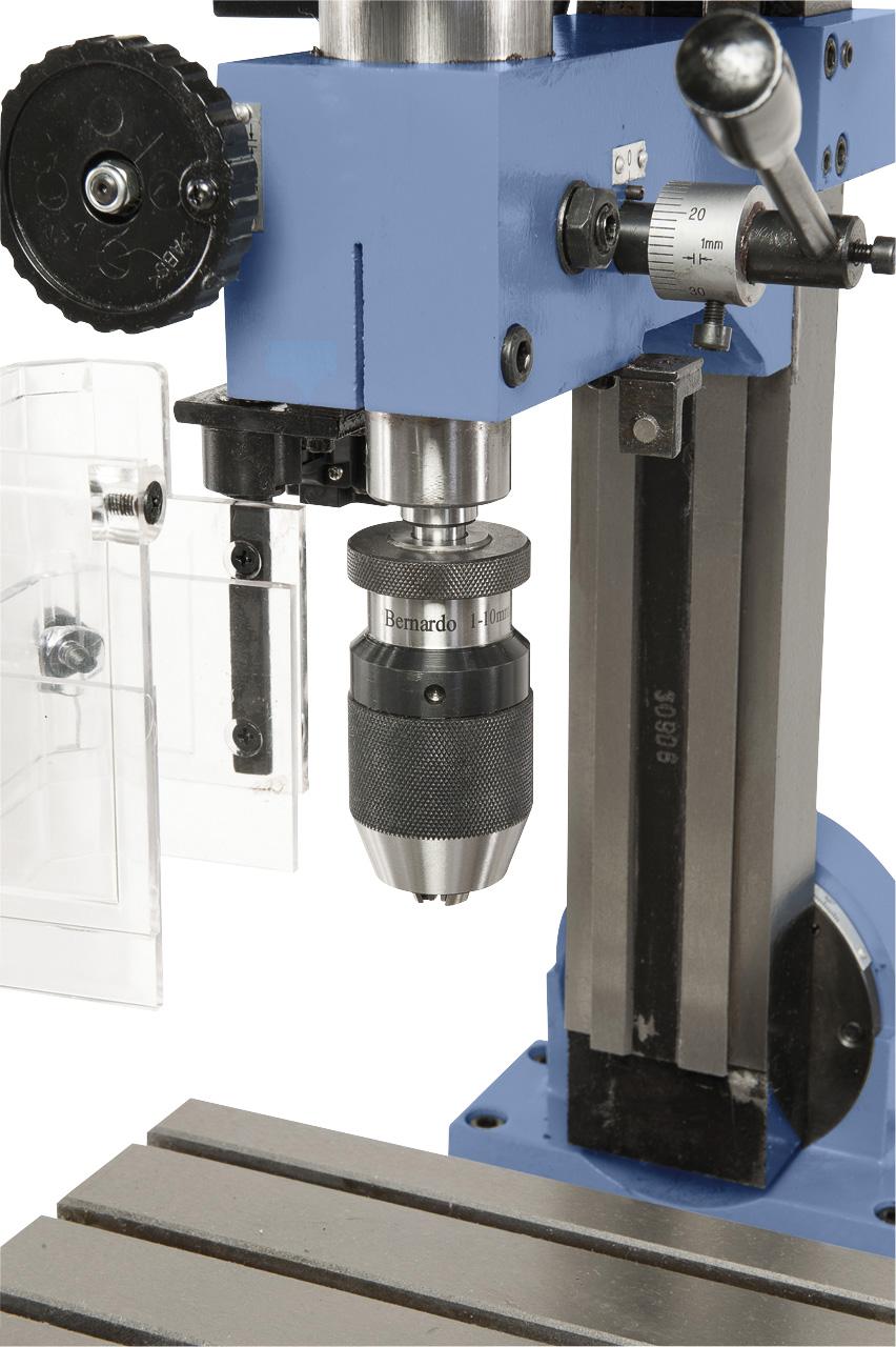 Optional mit Schnellspannbohrfutter 1 - 10 mm / B 12