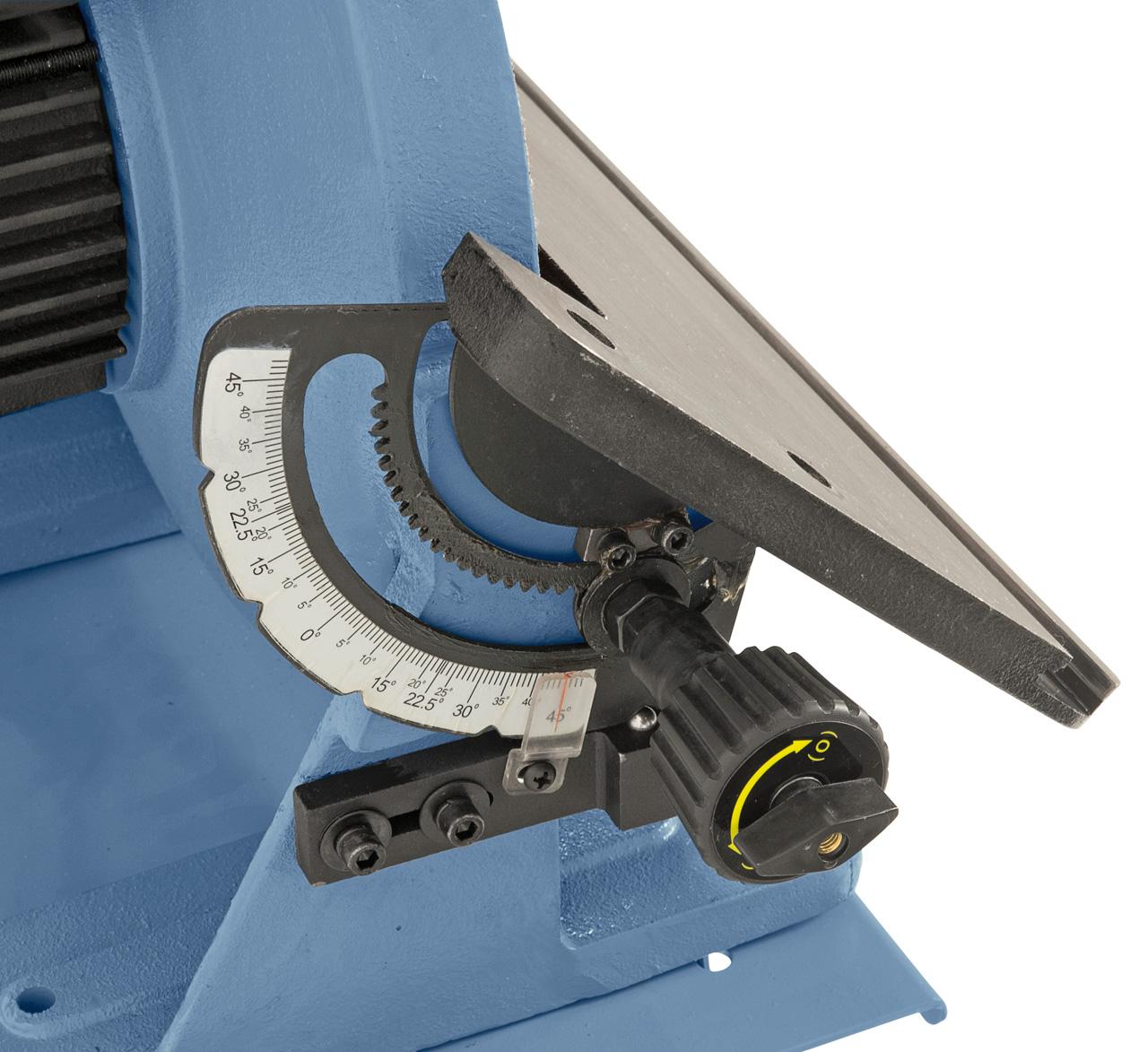 Geschliffener Graugusstisch mit Schwenkbereich -3° bis +45°