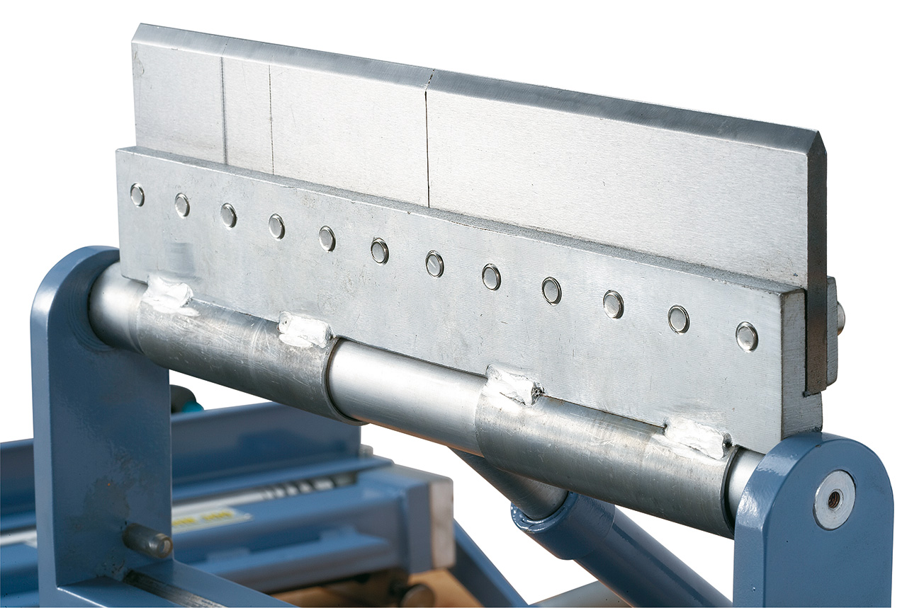 Herausnehmbare Biegesegmente (25, 50, 75, 150 mm) zum Biegen von Schachteln