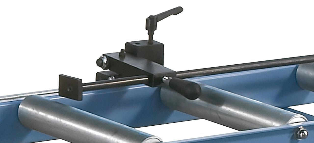 Stabiler Materialanschlag, bei Bedarf hochklappbar