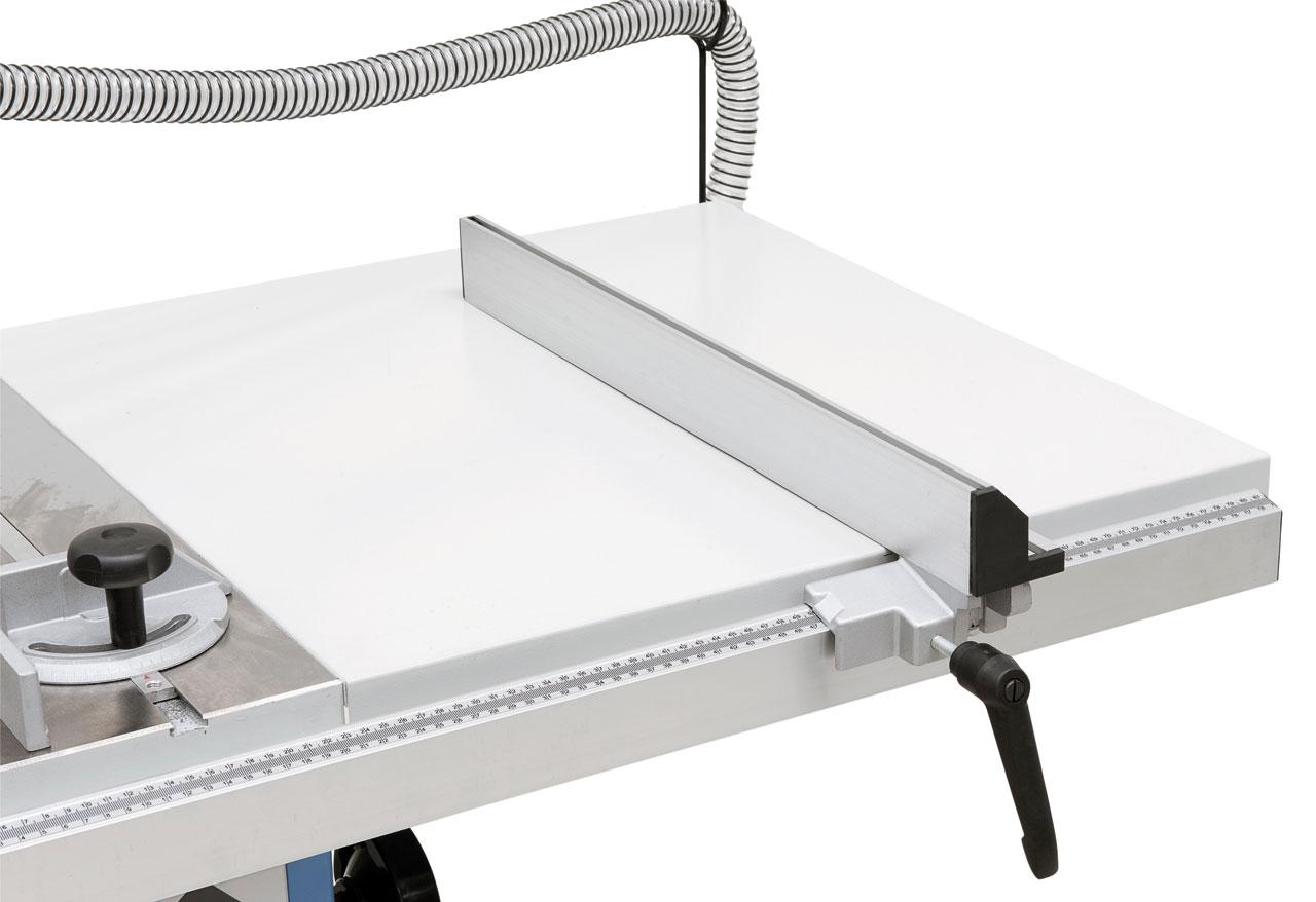 Tischverbreiterung für Schnittbreiten bis 720 mm im Lieferumfang enthalten.