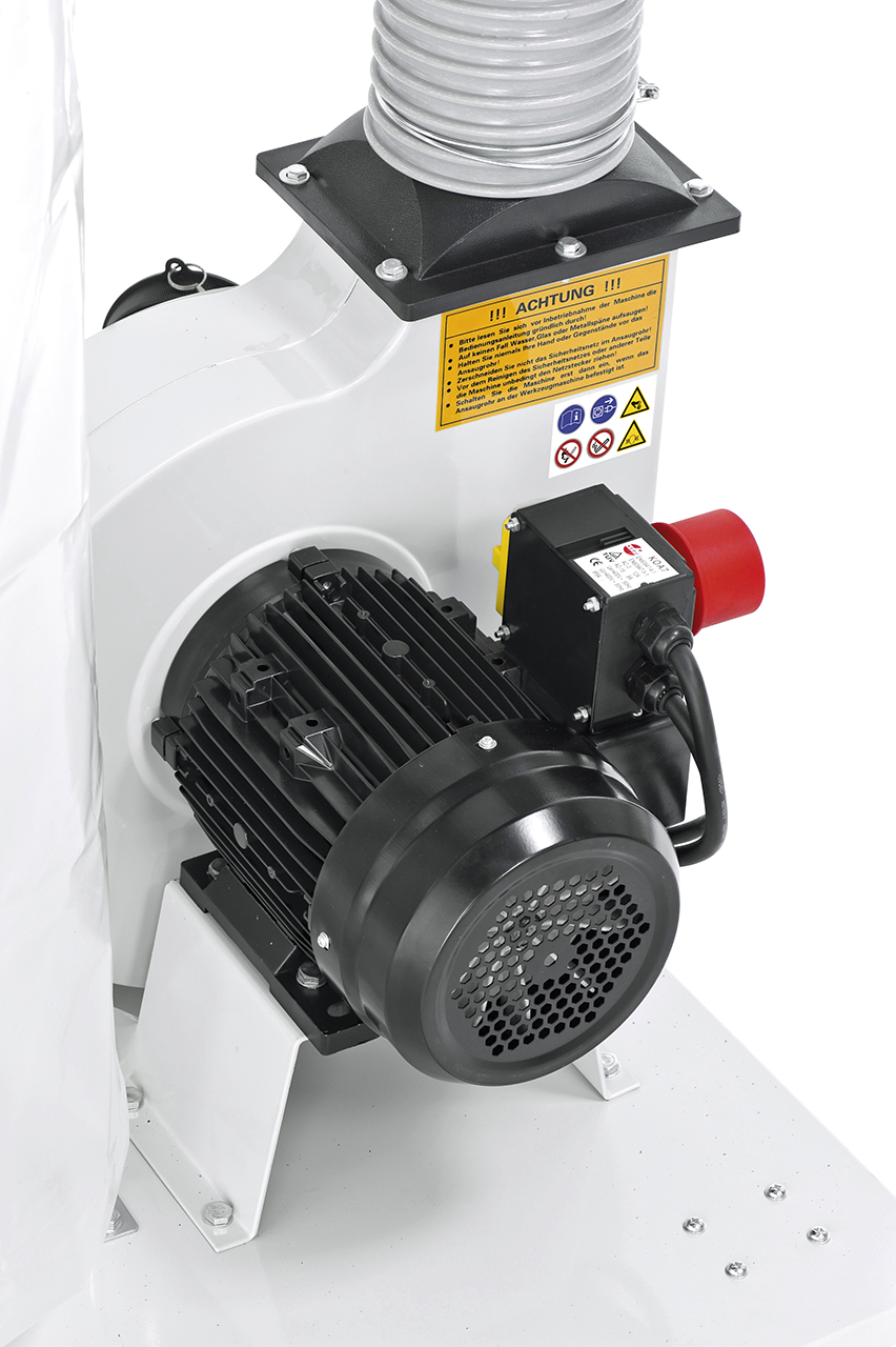 Leistungsstarker Antriebsmotor mit Stahllüfterrad