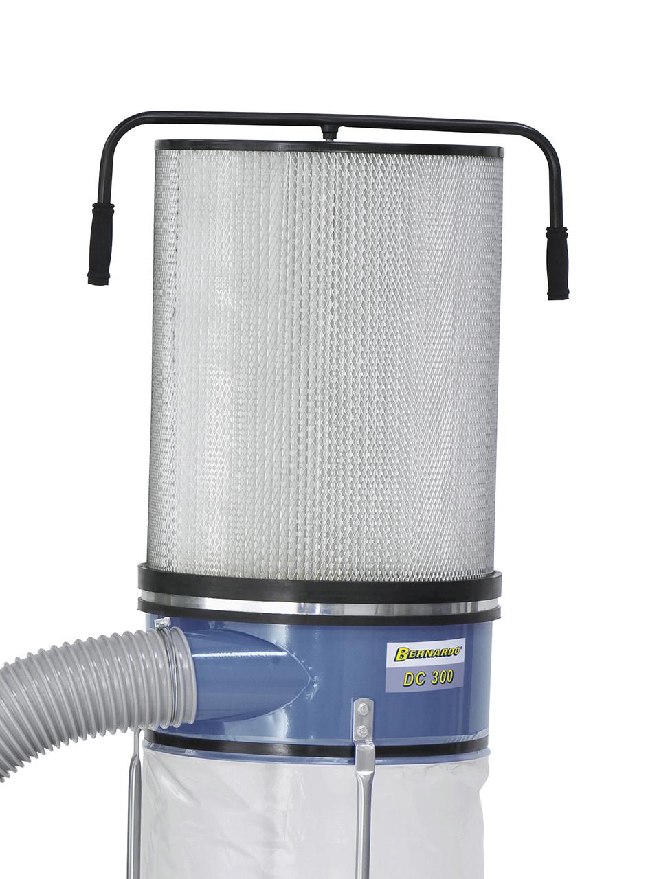 Effektive Steigerung der Absaugleistung durch nachrüstbare Feinstaub-Filterpatrone FP 2 (Option)