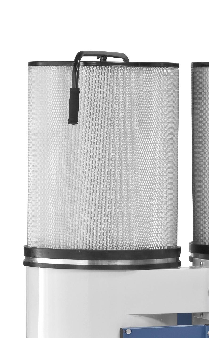 Effektive Steigerung der Absaugleistung durch nachrüstbare Feinstaub-Filterpatrone (Option)