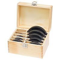 Butting ring set 12 pcs., in wooden case