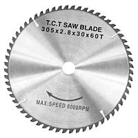 Carbide sawblade WZ, 305 x 2,8 x 30 mm, 60T