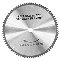 Carbide sawblade WZ, 305 x 3,0 x 25,4 mm, 80T