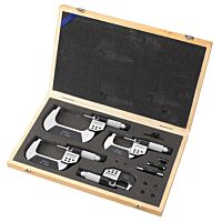 Electronic digital micrometer set