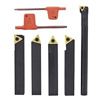 Carbide turning tool set 4-pcs. incl. boring bar, 10 mm