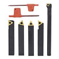 Carbide turning tool set 4-pcs. incl. boring bar, 16 mm