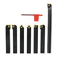 Carbide turning tool set, 6-pcs. incl. boring bar, 20 mm